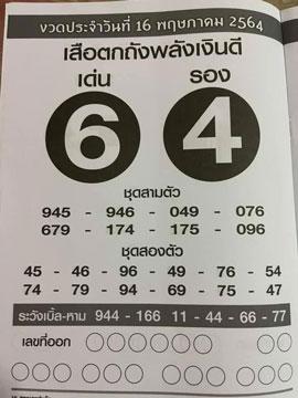 Lottery Suea Thot 17-5-64
