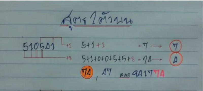 สูตรคำนวณหวย 2 ตัวบน ปี 64